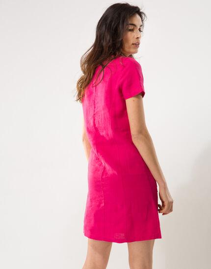 Bisou fuchsia linen dress (5) - 1-2-3