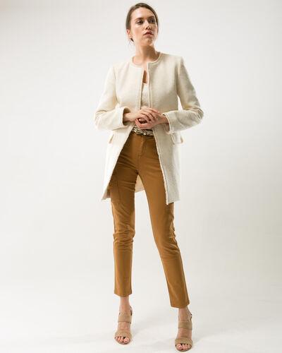 Louison lurex jacquard ecru coat (2) - 1-2-3
