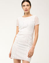 Biba white lace dress white.