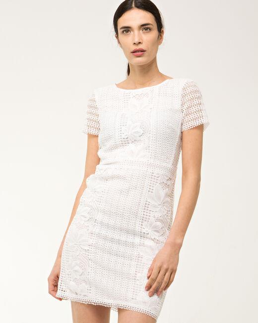 Robe blanche en dentelle Biba (2) - 1-2-3