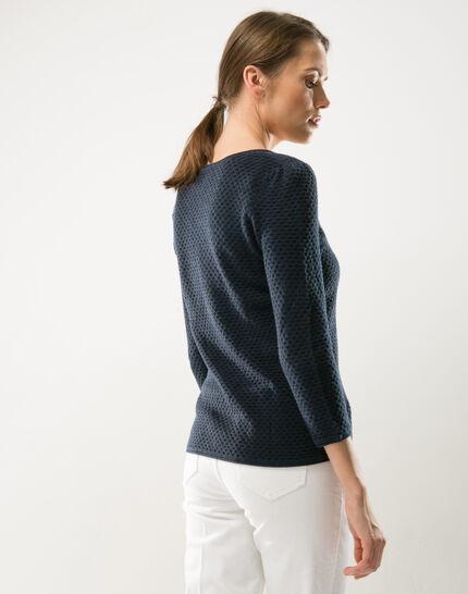 Heidi blue sweater with stunning stitchwork (6) - 1-2-3