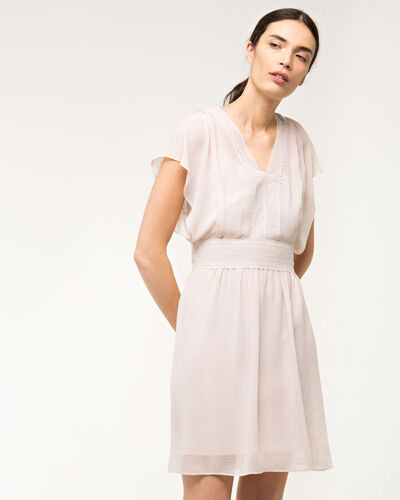 Fanfan powder pink dress with frilled sleeves (2) - 1-2-3