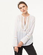 Eden ecru cotton blouse ecru.