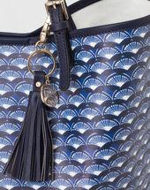 Poppy blue printed bag blue.