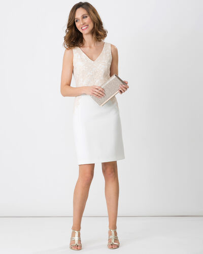 Felipa powder pink dress dress with lace (1) - 1-2-3
