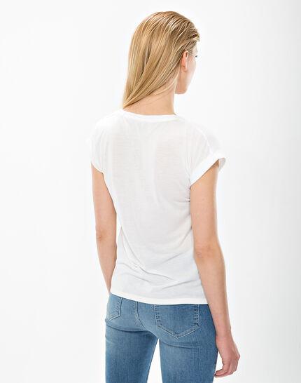 Nectar ecru printed T-shirt  (4) - 1-2-3