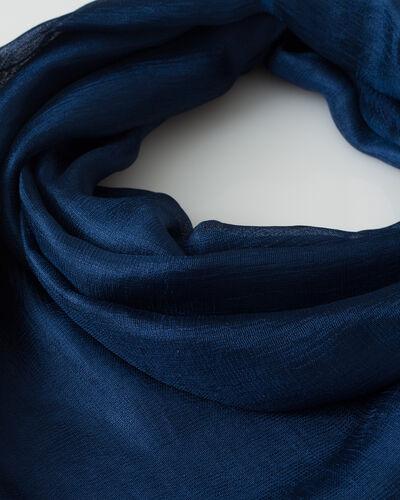 Foulard bleu Soyeuse (2) - 1-2-3