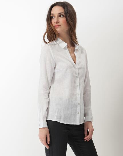 Dany white linen shirt (3) - 1-2-3
