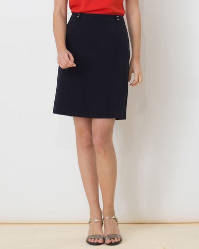 Domino navy blue tailored skirt (1) - 1-2-3
