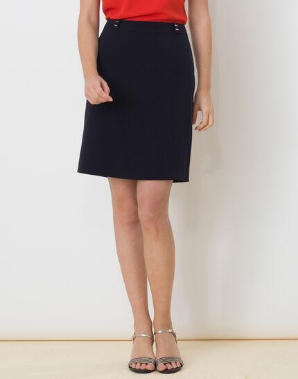 Domino navy blue tailored skirt (3) - 1-2-3