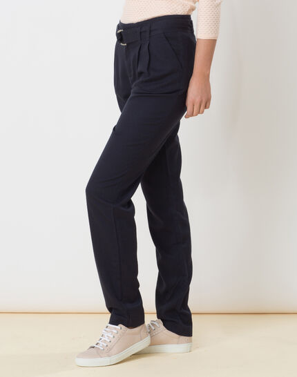 Darcy blue flowing trousers (3) - 1-2-3