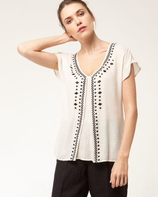 Elana pale yellow embroidered blouse (1) - 1-2-3