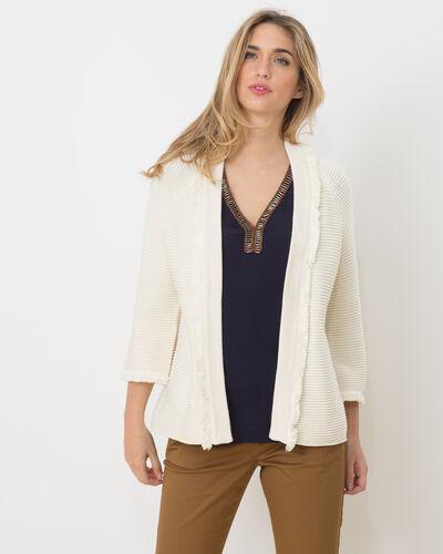 Hamac ecru sweater with fringing (2) - 1-2-3