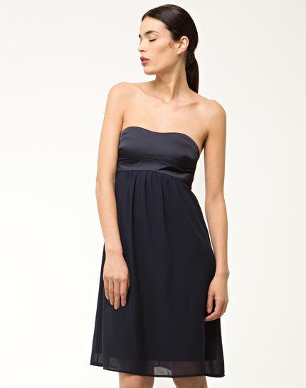 Fabiola navy blue bustier dress PhotoZ | 1-2-3