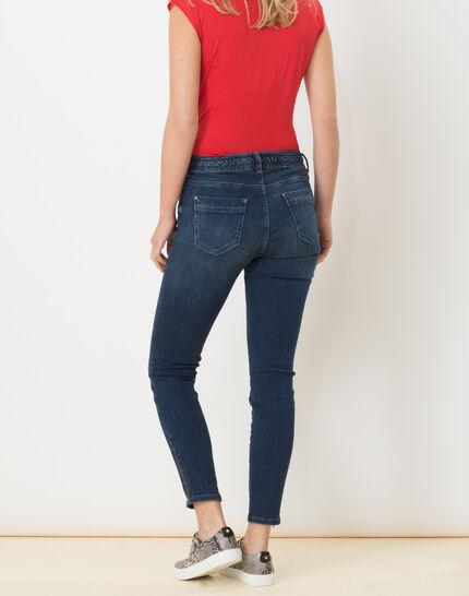 Xabi stonewashed 7/8 jeans with braided belt (4) - 1-2-3