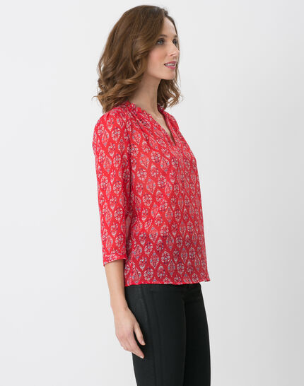 Erine raspberry printed shirt (3) - 1-2-3