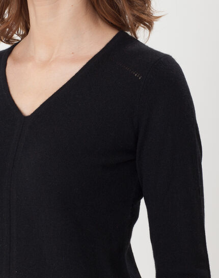 Heart black cashmere sweater (4) - 1-2-3