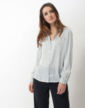 Dany sky blue silk shirt ice blue.