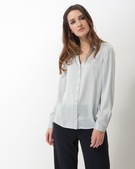 Dany sky blue silk shirt (2) - 1-2-3