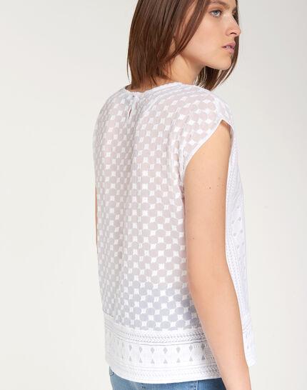 Ekta ecru embroidered shirt (4) - 1-2-3