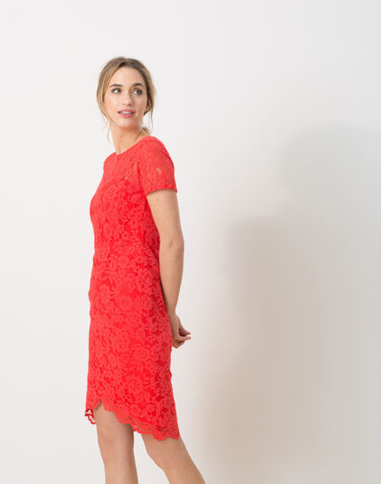 Friandise coral lace dress (5) - 1-2-3