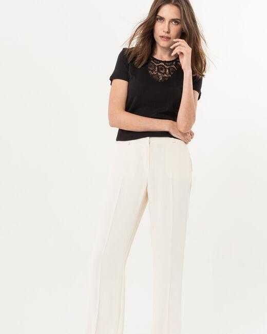 Pantalon large vanille Rina (1) - 1-2-3