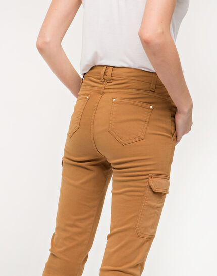Damien 7/8 length camel trousers with large combat-style pockets (6) - 1-2-3