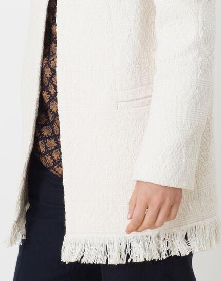 Quamille white coat with fringing (5) - 1-2-3