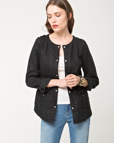 Umbria black linen jacket (1) - 1-2-3