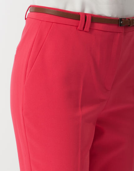 Pauline smart pink trousers with belt (5) - 1-2-3
