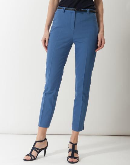 Pauline smart blue trousers with belt PhotoZ | 1-2-3