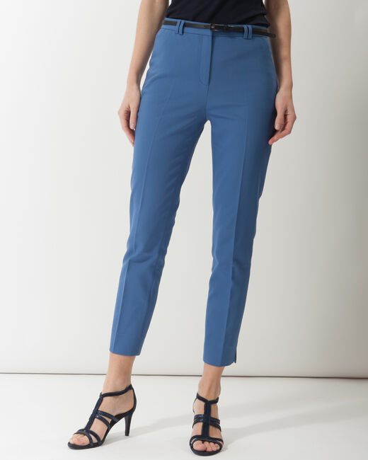 Pauline smart blue trousers with belt (2) - 1-2-3