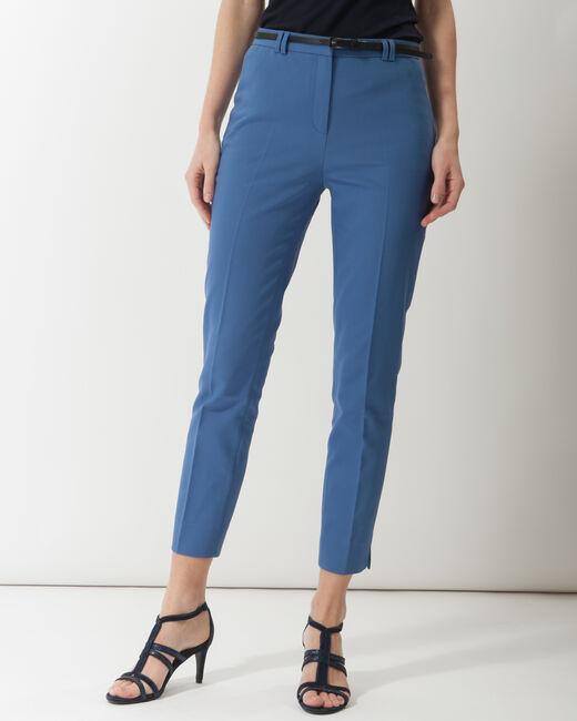 Pantalon city bleu avec ceinture Pauline (1) - 1-2-3