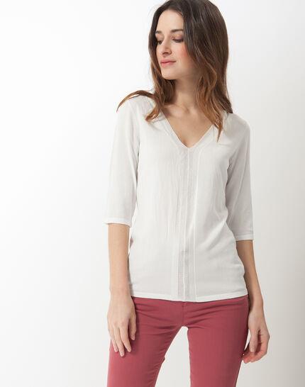 Honey V-neck ecru sweater PhotoZ | 1-2-3