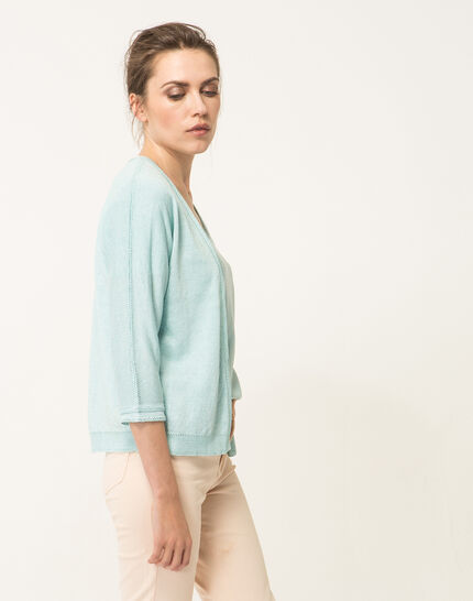 Hirondelle pale blue knitted jacket (5) - 1-2-3