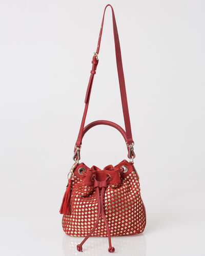 Paolo red velour bag (1) - 1-2-3