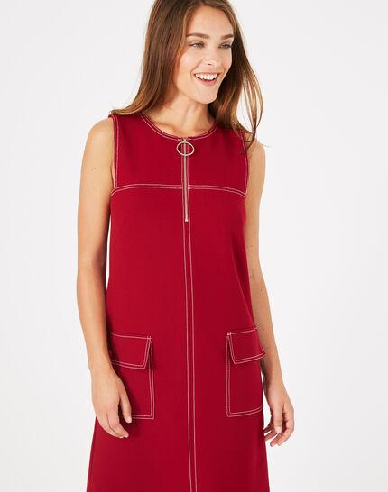 Robe compacte rouge Alix PhotoZ | 1-2-3