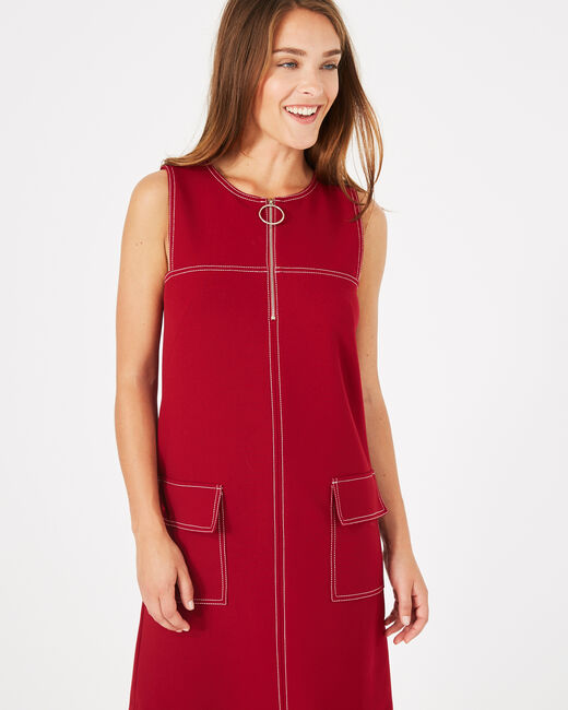 Alix close-fitting red dress (2) - 1-2-3