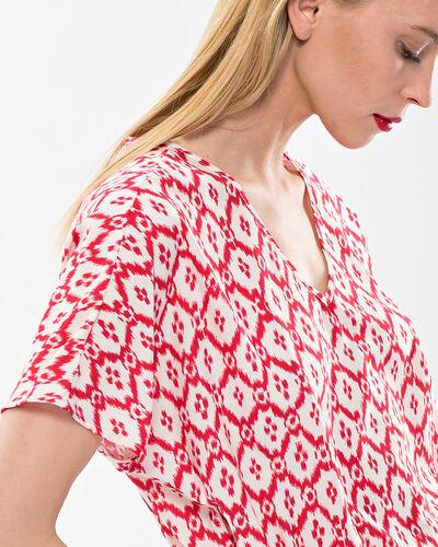 Robe rouge brodée imprimée Birdy (2) - 1-2-3