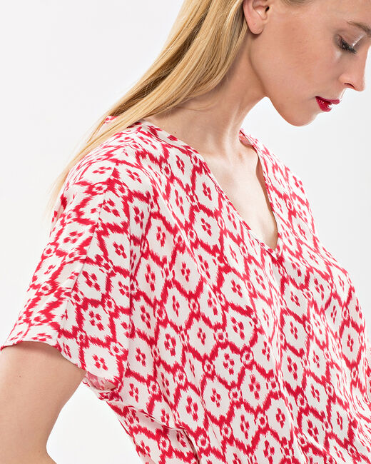 Birdy red, printed, embroidered dress (2) - 1-2-3