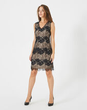 Francesca black lace dress black.