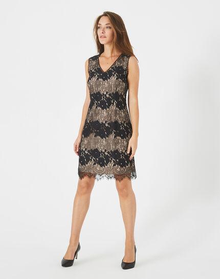 Francesca black lace dress (2) - 1-2-3