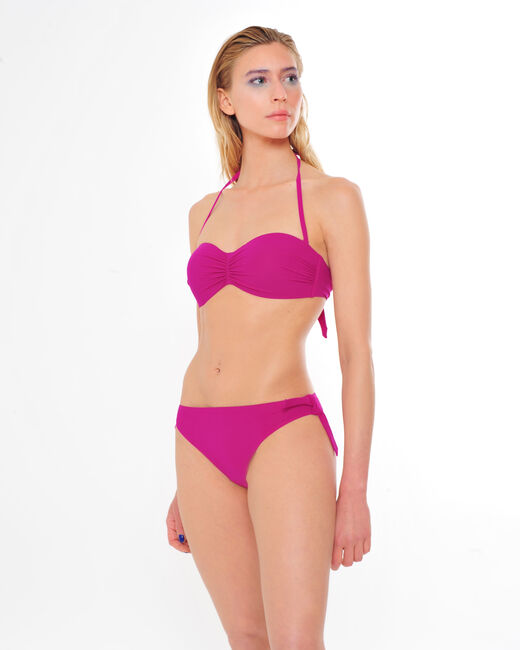 Jen fuchsia bandeau bikini top (1) - 1-2-3