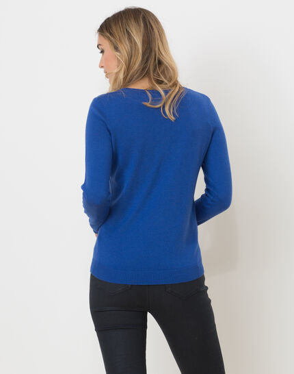 Honorine royal blue sweater with long sleeves (4) - 1-2-3