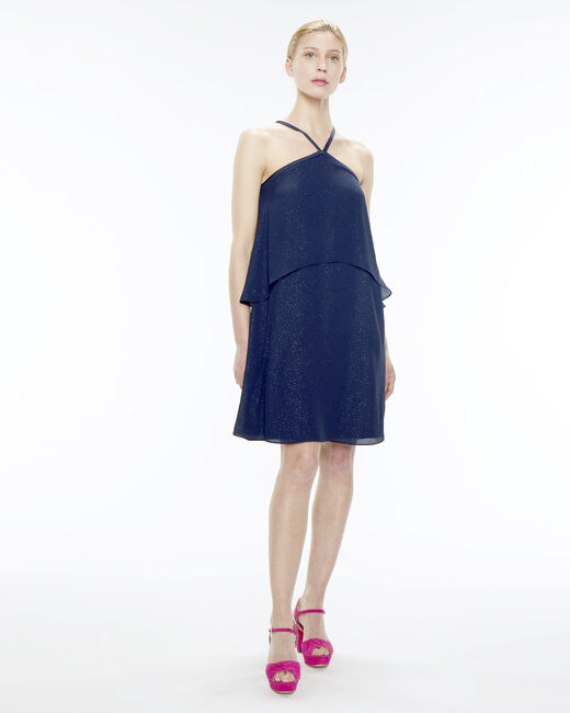 Felicia navy blue flouncy dress (2) - 1-2-3