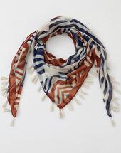 Samuel bronze printed scarf bronze.