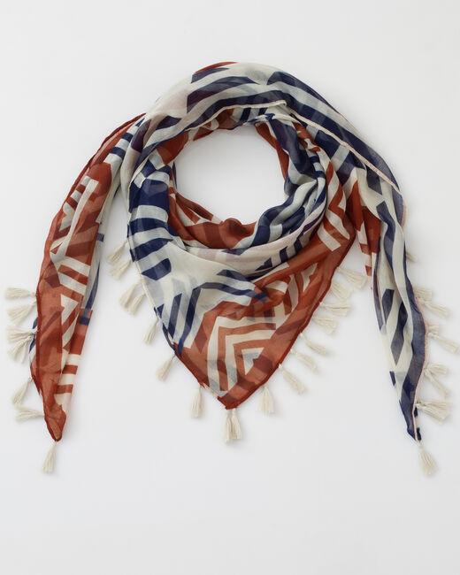 Samuel bronze printed scarf (1) - 1-2-3