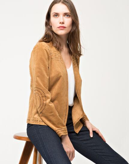 Ulysse perforated camel jacket (3) - 1-2-3