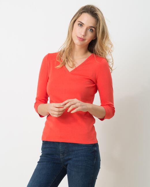 Tee-shirt orangé Noria (2) - 1-2-3