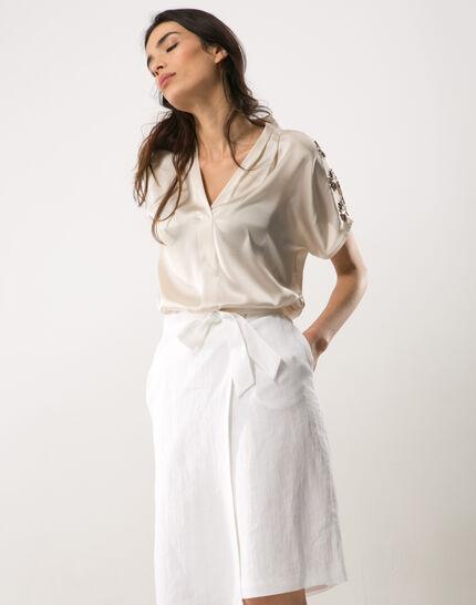 Dahalia white linen skirt PhotoZ | 1-2-3